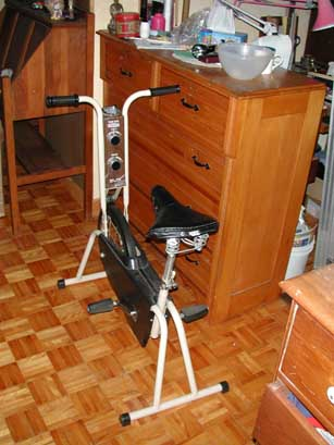 Old exercise bikes never die, they just annoy people forever.